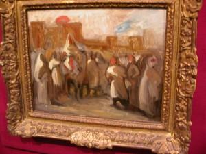"Delacroix, ""le Sultan Abderrahman  accueillant le duc de Mornay"""